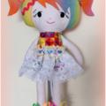 Rainbow Softie Doll