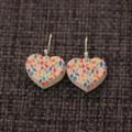 Colour Dot Hearts ~ Earrings