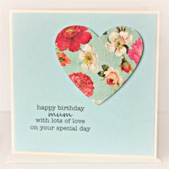 Mum Birthday card | Vintage heart | Ma Mother Mummy