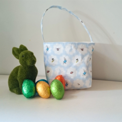 Blue Peter Rabbit Easter Basket with Handle