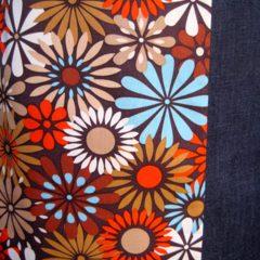 Denim Skirt with 70s Daisies and Bamboo Stretch Waist