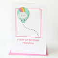 Any Age Personalised Birthday Card, Custom Made Handmade Birthday Card For Kids