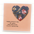 Happy Mother's Day card heart Mum Mummy Nanna Nanny Grandma Nan Oma