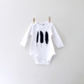 Feather Onesie | Hand Printed