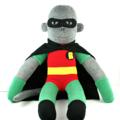 'Robin' the Sock Monkey (Superhero) - MADE TO ORDER