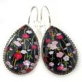 TEARDROP LEVER BACK EARRINGS- Blossoms