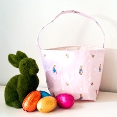 Pink Peter Rabbit Basket with Handle FREE SHIPPING