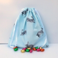 Super Cute Handmade Blue Bunny Print Toy Bag/Gift Bag/Storage Bag