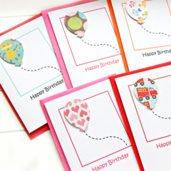 5 Birthday Cards For Kids, Boy Birthday Card, Girl Birthday Card, Children Cards