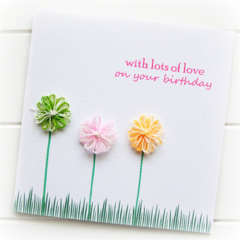 Birthday card | Cotton Flowers | For Her Mum Sister Daughter Friend