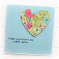 1st Mother's Day card | Floral Heart | Happy Mother's Day