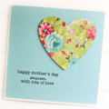 Mum Mother's Day card floral heart Happy Mothers Day Mummy Ma Mom Mummy