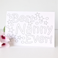 Personalised Colouring In Card, Mother's Day Card, For Her, Birthday Card, Mum