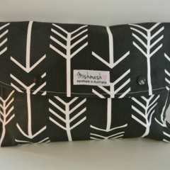 Nappy Wallet/Clutch - Black Arrow Modern Design