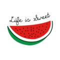 """""""Life is Sweet"""" Original Mini Watermelon Print (5x7)"""