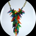 Glass chilli necklace