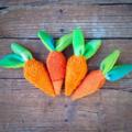Carrot Rattle Plush Vintage Chenille