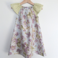 Floral Flutter Sleeve Peasant Dress, 100% Cotton, Size 2/3 Toddler
