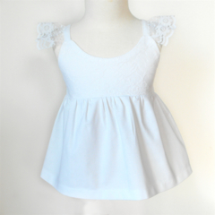 White Lacey Hummingbird Top - Size 4