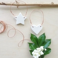 Clay Tags - copper and clay (heart or star)