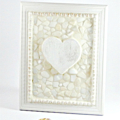 Rustic Mosaic Heart in a Beach Themed Frame