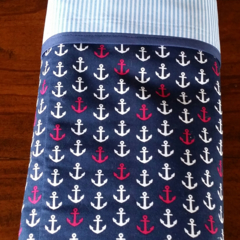 In the Navy! Anchors Baby Blanket / Cot Cover / Play Mat.