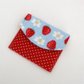 Girls Coin Purse / Card Wallet - Strawberries