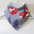 Adorable Soft Fox Woodland Bandana Dribble Bib Triple Layer Absorbent Flannel