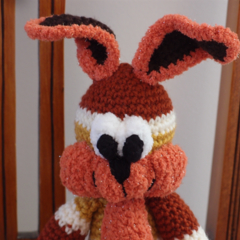 Bobby the Bunny rabbit;   crocheted, OOAK, easter, washable, unisex