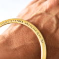 Inspiration Hand Stamped Bangle Hypo Allergenic Stainless Steel Quote Jewellery