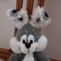 Bobby the Bunny rabbit;   crocheted, OOAK, easter, washable, unisex