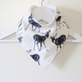 Adorable Deer Fawn Print Bandana Dribble Bib with Double Layered Backing