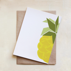 Pineapple Card, All Occasion, Greeting Card, Blank