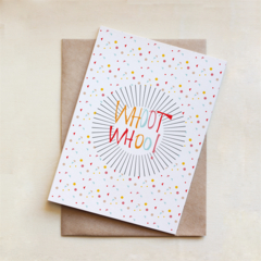 Whoot Whoo !, Congratulations Card, Celebration, Greeting Card