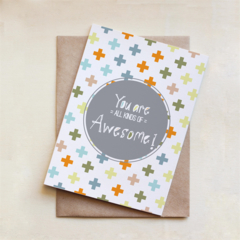 You are all kinds of awesome, Congratulations Card, Celebration, Greeting Card