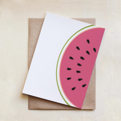 Watermelon Card, All Occasion, Greeting Card, Blank