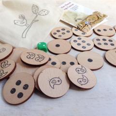 Bird in the Hand Wooden Counting Game