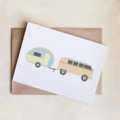 Retro Caravan Card, All Occasion, Greeting Card, Blank