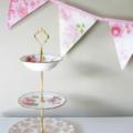 Vintage Bunting Spring Wedding Pastel & Ivory / White Multi Floral Flags . BULK