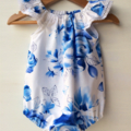 Pretty floral  playsuit! size 00. Michael Miller fabric.