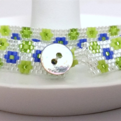 Daisy Cuff Bracelet - Green