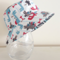 Boys summer hat in cool dino fabric
