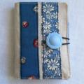 Travelling Tea Bag Wallets - Linen & blues.