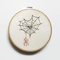 Web of Love Embroidered Hoop Art