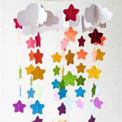 Custom Baby Mobile- Rainbow Star Design