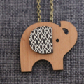 Elephant Brooch/ Pendant Necklace
