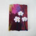 Felt Journal Notebook Cover Organizer Notebook Diary Flowers