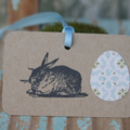 READY TO POST 6 Bunny Rabbit Gift Tags ~ Easter ~ Parties ~ Baby Showers