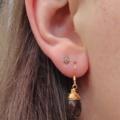 Smokey Quartz Earrings Gold Wire Wrapped Earrings Brown Gemstone Earrings