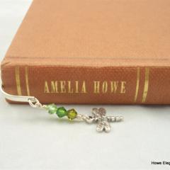 Luxury Bookmark - sterling silver flower with Swarovski crystals